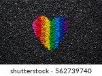 Rainbow Heart On Black...