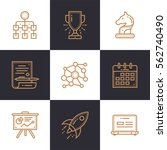 vector set of linear icons for... | Shutterstock .eps vector #562740490