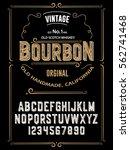 typeface.label. bourbon... | Shutterstock .eps vector #562741468