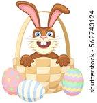 vector illustration of a happy... | Shutterstock .eps vector #562743124