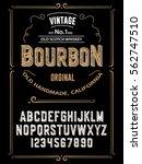 typeface. label. bourbon... | Shutterstock .eps vector #562747510