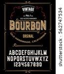 typeface. label. bourbon... | Shutterstock .eps vector #562747534