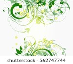 Stock vector abstract floral background for design 562747744