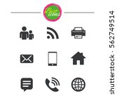 contact  mail icons.... | Shutterstock .eps vector #562749514