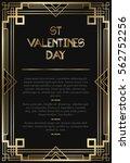 vintage retro style invitation  ...   Shutterstock .eps vector #562752256