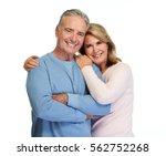 senior couple smiling. | Shutterstock . vector #562752268