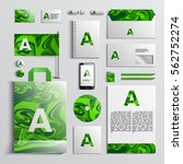 corporate identity template in... | Shutterstock .eps vector #562752274