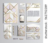 corporate identity template in... | Shutterstock .eps vector #562752289