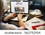 coffee time break cafe leisure... | Shutterstock . vector #562752934