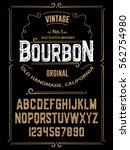 typeface. label. bourbon... | Shutterstock .eps vector #562754980