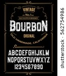 typeface. label. bourbon... | Shutterstock .eps vector #562754986