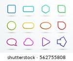 vector 3d color text box frames ... | Shutterstock .eps vector #562755808