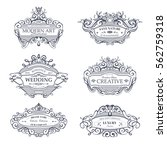 collection of vintage patterns. ... | Shutterstock .eps vector #562759318