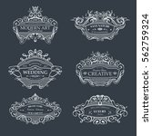 collection of vintage patterns. ... | Shutterstock .eps vector #562759324