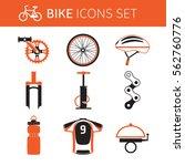 biking gear and accessories  ... | Shutterstock .eps vector #562760776