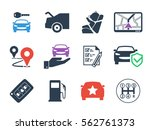 car rental icons set | Shutterstock .eps vector #562761373