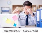 businessman working in the... | Shutterstock . vector #562767583