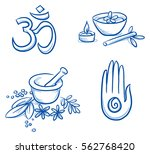 set of ayurveda and wellness... | Shutterstock .eps vector #562768420