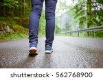 close up of woman runner legs... | Shutterstock . vector #562768900