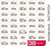 cars line icons set  different... | Shutterstock .eps vector #562769224