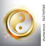 yin yang symbol. sacred... | Shutterstock .eps vector #562769560
