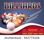 billiards poster event info... | Shutterstock .eps vector #562773106