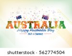 26 january happy australia day. ... | Shutterstock .eps vector #562774504