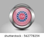 stars and stripes flag. metal... | Shutterstock .eps vector #562778254
