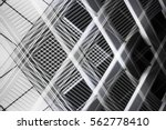 overlay of grid structures.... | Shutterstock . vector #562778410