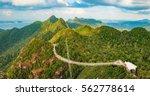 panoramic view of sky bridge...   Shutterstock . vector #562778614