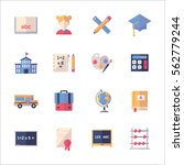 education icons set 1  flat... | Shutterstock .eps vector #562779244