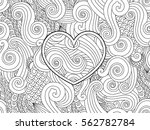Coloring Page With Heart And...