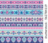 indian floral paisley medallion ...   Shutterstock .eps vector #562784119