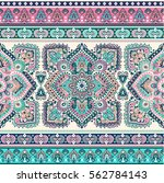 indian floral paisley medallion ... | Shutterstock .eps vector #562784143