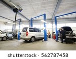 car in a car repair station | Shutterstock . vector #562787458