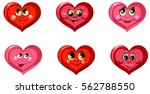 cartoon hearts set of icons of... | Shutterstock .eps vector #562788550