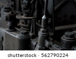 close up details of old steam... | Shutterstock . vector #562790224