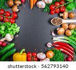 beautiful frame of different... | Shutterstock . vector #562793140