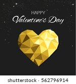 gold polygon heart illustration.... | Shutterstock .eps vector #562796914