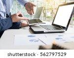 business adviser analyzing... | Shutterstock . vector #562797529