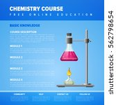 online science education... | Shutterstock .eps vector #562798654