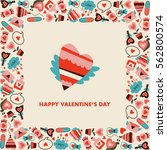 valentines day poster with love ... | Shutterstock .eps vector #562800574