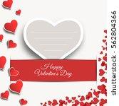 vector happy valentine's day... | Shutterstock .eps vector #562804366