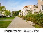 New modern residential buildings in the city, urban development of apartment houses - stock photo