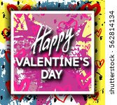 happy valentine's day unusual... | Shutterstock .eps vector #562814134