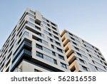 facade of a modern apartment... | Shutterstock . vector #562816558