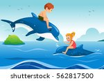 a vector illustration of little ... | Shutterstock .eps vector #562817500