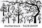 decorative curly style trees...