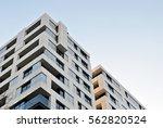facade of a modern apartment... | Shutterstock . vector #562820524