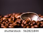 brown roasted coffee beans ...